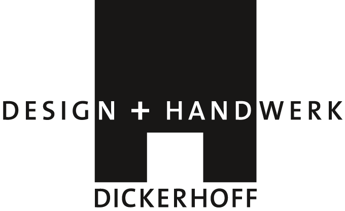 Logo von Design + Handwerk Dickerhoff mit Schriftzug
